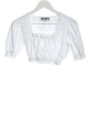 Trachten Redl Blusa folclórica blanco estilo clásico