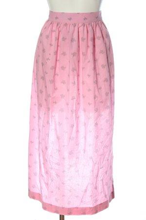 Trachten Redl Tradycyjny fartuch  różowy Wzór w kwiaty Styl klasyczny