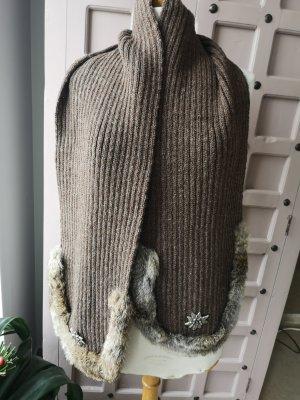 Sciarpa di lana marrone chiaro-beige