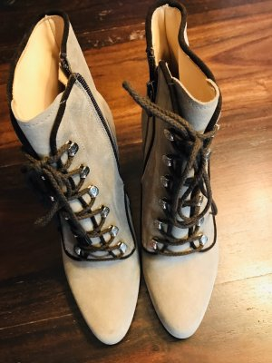 Angermaier Lace-up Booties oatmeal-light brown