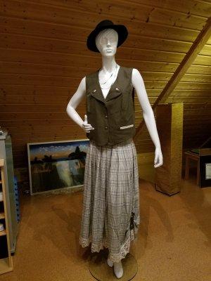 Alphorn Traditional Skirt light grey-sage green