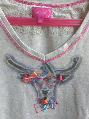 Krüger T-Shirt light grey cotton