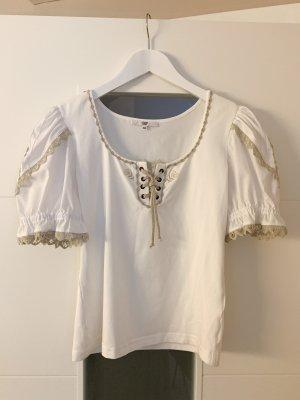 Country Line Tradycyjna bluzka biały-jasnobrązowy