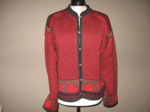 Dale of Norway Cardigan norvégien rouge carmin laine vierge