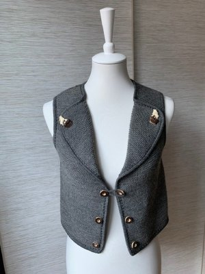 Traditional Vest grey wool