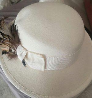 Chapeau en feutre blanc cassé