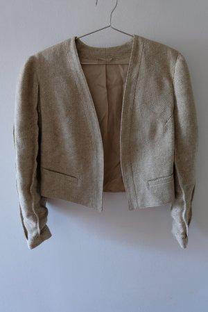 Tradycyjna kurtka w kolorze białej wełny-beżowy