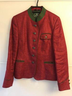 Allwerk Giacca tradizionale rosso mattone-verde bosco Lino