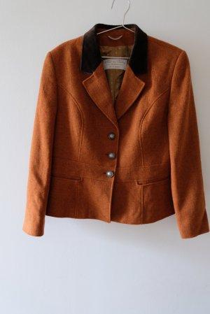 H.Moser Chaqueta folclórica marrón-naranja
