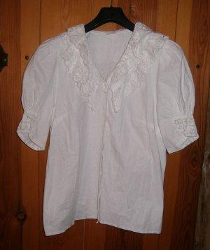 Hess Frackmann Blusa tradizionale bianco Cotone