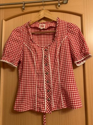 Spieth & Wensky Traditional Blouse white-red