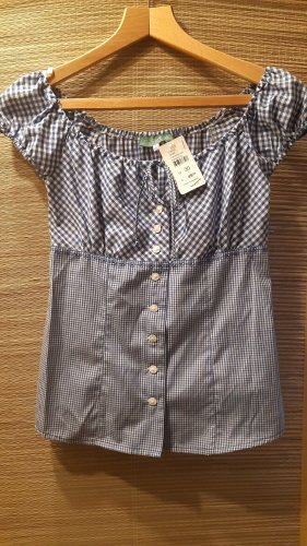 Country Line Traditional Blouse white-blue