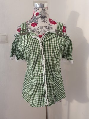 Blusa tradizionale bianco-verde