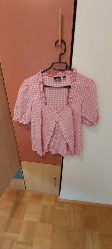 b.p.c. Bonprix Collection Blusa tradizionale bianco-rosa