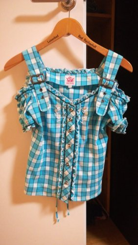 Spieht & Wensky Folkloristische blouse lichtblauw-wit