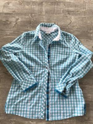 Blusa tradizionale bianco-azzurro Cotone