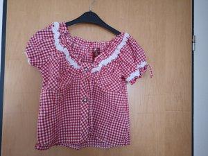 Blusa tradizionale bianco-rosso