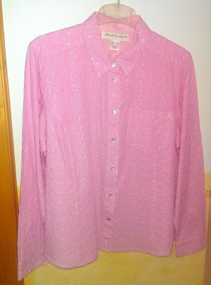 Janet & Joyce Traditional Blouse white-pink