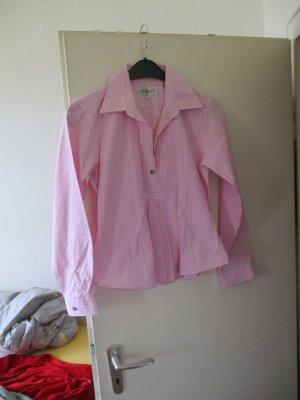 Almsach Blusa folclórica rosa claro-blanco