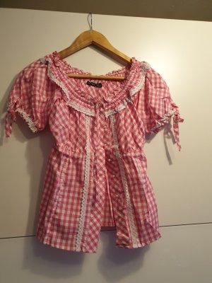 Esmara Camicia a scacchi bianco-rosa