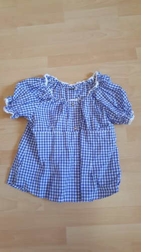OS Trachten Traditional Blouse blue