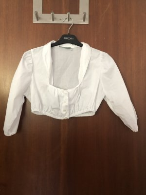 Country Line Long Sleeve Blouse white