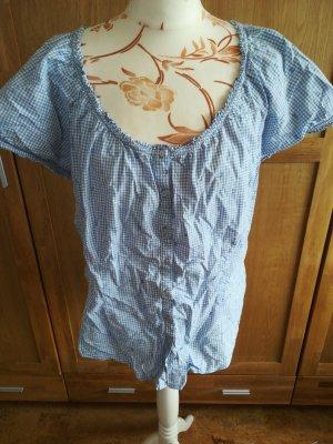Wiesn Spatzl Tradycyjna bluzka biały-błękitny