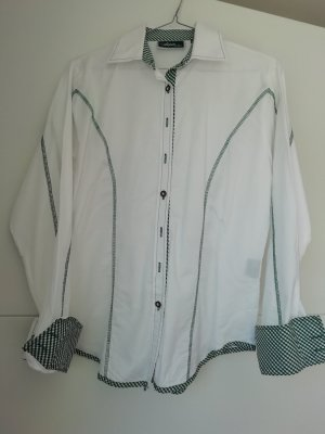 Alpin de luxe Traditional Blouse white-forest green