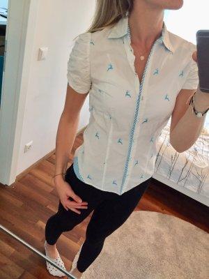 Arido Blouse bavaroise blanc-bleu clair