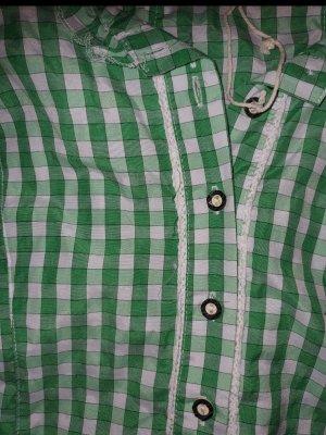 Fuchs Trachtenmoden Blusa tradizionale verde-bianco