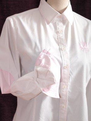 K & K Kaiserjäger Blouse bavaroise blanc-rosé coton