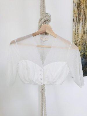 Krüger Blusa folclórica blanco-blanco puro