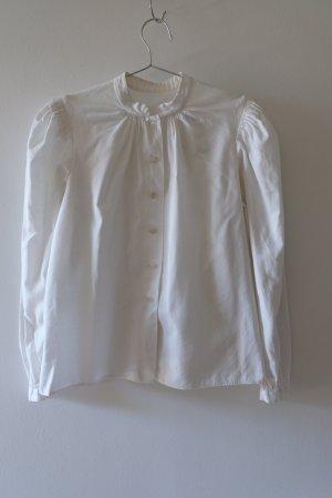 Tradycyjna bluzka w kolorze białej wełny Bawełna