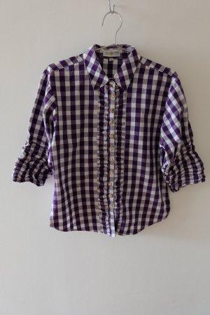 Almsach Blusa folclórica blanco-violeta