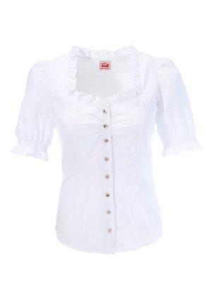 Spieth & Wensky Blouse bavaroise blanc coton