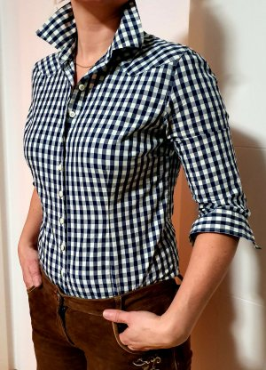 Sisterhood Folkloristische blouse wolwit-blauw
