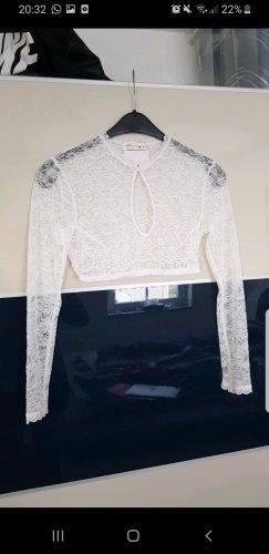 Alpenherz Tradycyjna bluzka biały-w kolorze białej wełny