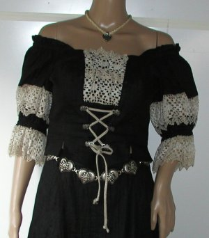 Traditional Blouse black linen