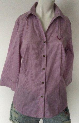 Arido Folkloristische blouse donkerrood-wit