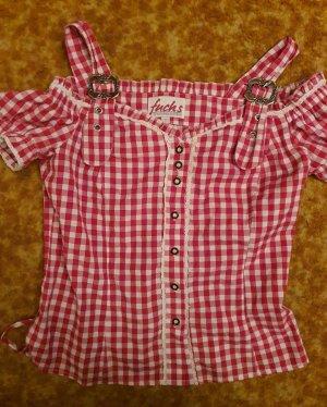 Fuchs Trachtenmoden Blusa tradizionale rosso