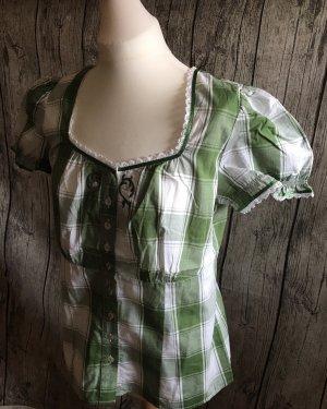 Spieth & Wensky Blusa tradizionale bianco-verde