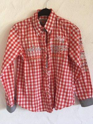 Stockerpoint Camicetta a maniche lunghe bianco-rosso Cotone