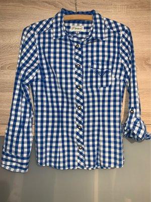 Folkloristische hemd blauw-wit