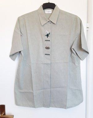 Chemise bavaroise gris vert coton
