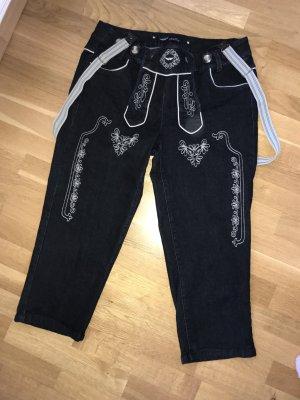 Pantalon bavarois bleu foncé-noir