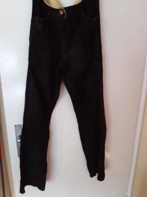 Almsach Pantalone in pelle nero