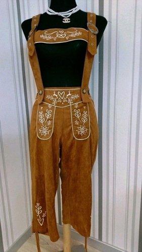 Dirndline Pantalon bavarois brun polyester