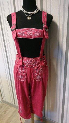 Pantalon bavarois rose tissu mixte