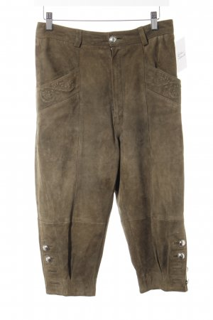 Folkloristische broek khaki casual uitstraling