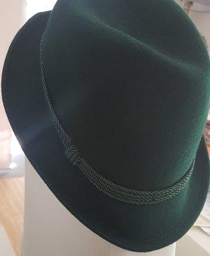 Gorro folclórico verde oscuro-verde bosque